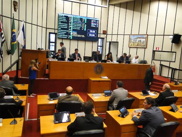 Mesa da Câmara anuncia membros das 16 comissões permanentes (Foto: Amanda Pioli/G1)