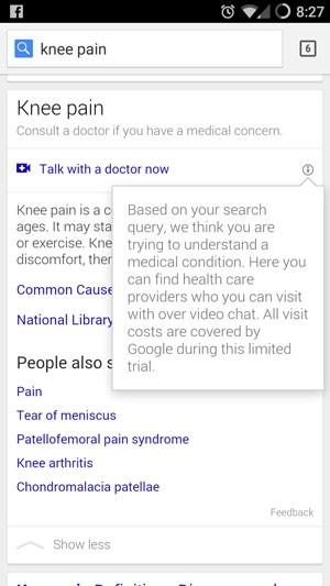 Google testa consultas a médicos via videoconferência para quem busca por termos médicos. (Foto: Reprodução/Reddit.com)