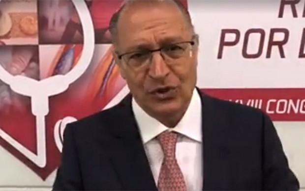 Alckmin no XXXVIII Congresso da Sociedade de Cardiologia do Estado de São Paulo (Foto: Reprodução/Facebook)