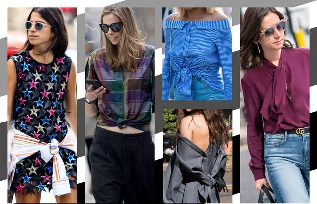 Aprenda diferentes formas de usar a camisa (Foto: Arte Vogue Online)