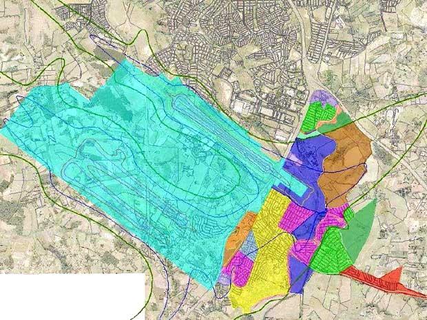 Mapa da Macrozona 7, no entorno do Aeroporto de Viracopos em Campinas (Foto: Reprodução / Prefeitura de Campinas)