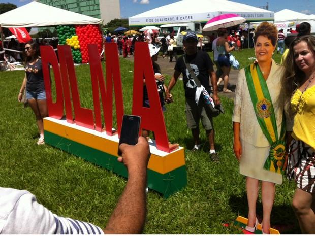 Público na festa de posse da presidente reeleita Dilma Rousseff (Foto: Fábio Amato / G1)