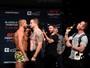 Cão, bola de sabão e peruca roubam a cena na pesagem do UFC Ottawa