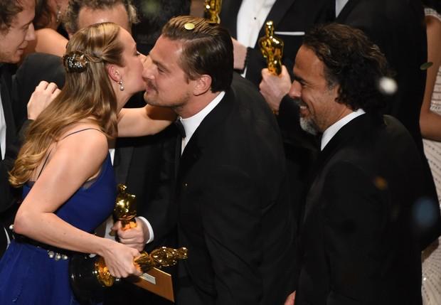 Brie Larson, Leonardo DiCaprio e Alejandro Iñarritú (Foto: Getty Images)
