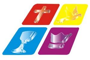 Logomarca da Igreja Quadrangular, usada na bandeira, em reprodução do site www.quadrangular.com.br  (Foto: Reprodução)