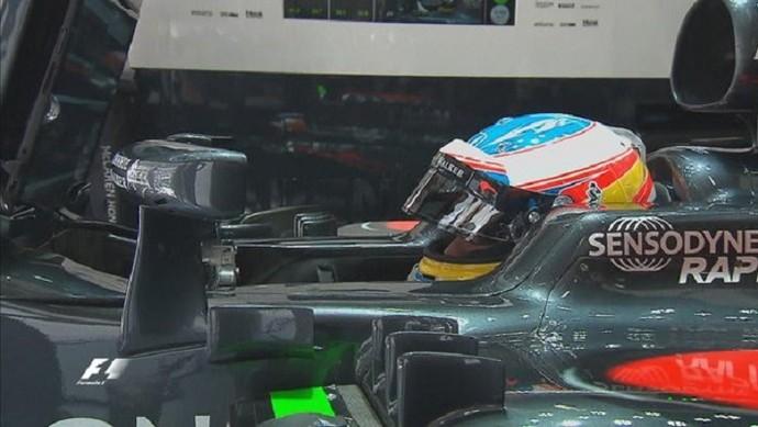 Fernando Alonso voltou ao cockpit da McLaren, na China (Foto: Divulgação)