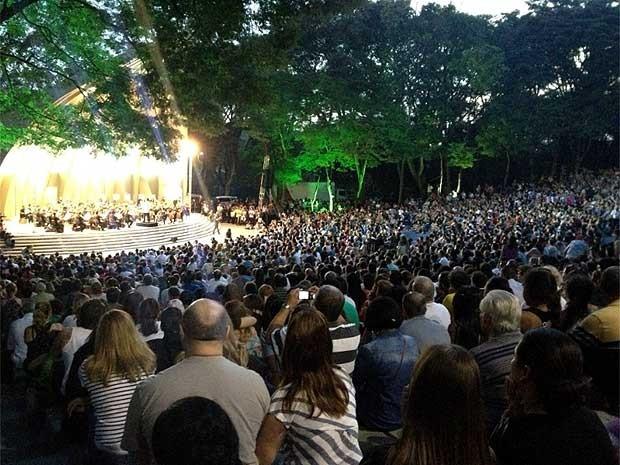 Orquestra Sinfônica Municipal de Campinas reinaugura a Concha Acústica em Campinas (Foto: Anaísa Catucci/G1 Campinas)