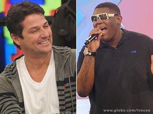 Marcelo Serrado e Mc Bola (Foto: TV Xuxa / TV Globo)