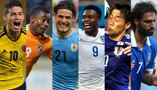 As seleções que se enfrentam na quartaquinta, dia 19 de junho, pela fase de grupos da Copa do Mundo (Foto: Divulgação FIFA / Getty Images)