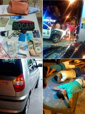 Primeiro dia de barreiras e revistas a ônibus terminou com prisões e apreensões (Foto: Divulgação/Polícia Militar do RN)