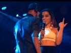 Neymar e Anitta fazem dueto sensual durante show da cantora em Santos