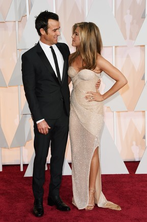 Justin Theroux e Jennifer Aniston (Foto: AFP)