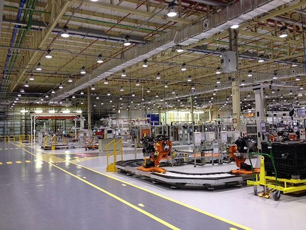 Fábrica de motores é inaugurada em Camaçari (Foto: Ruan Melo/G1)