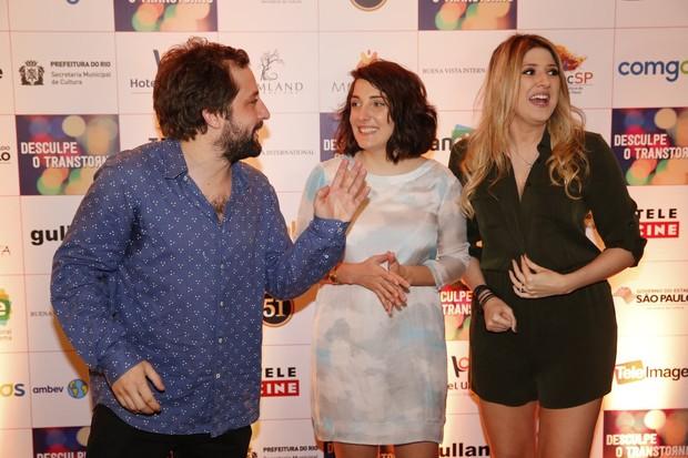 Gregório Duvivier, Clarice Falcão e Dani Calabresa (Foto: Marcos Serra Lima / Ego)