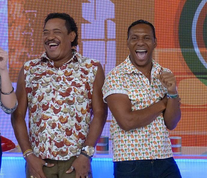 Compadre Washington e Beto Jamaica participaram do Vídeo Show (Foto: Cristina Cople / Gshow)