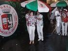 Famosos chegam à Sapucaí, no Rio, para desfile das campeãs