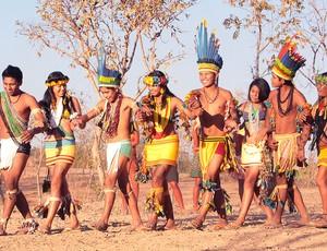 Jogos dos Povos Indígenas em Cuiabá (Foto: Lenine Martins/Secom-MT)