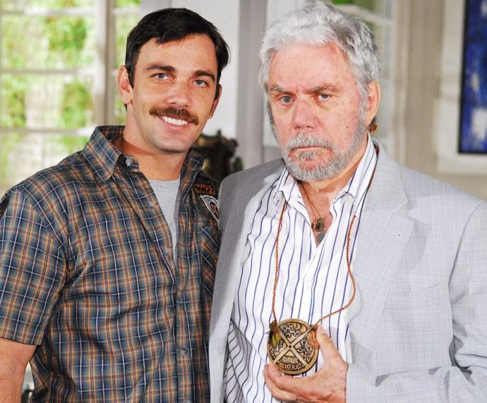 """Marcelo e Reginaldo Faria trabalharam juntos em """"Beleza Pura"""" (Foto: Kiko Cabral/CGCom)"""