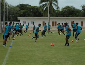 Treino do Botafogo-PB na Acadepol (Foto: Amauri Aquino / GloboEsporte.com/pb)