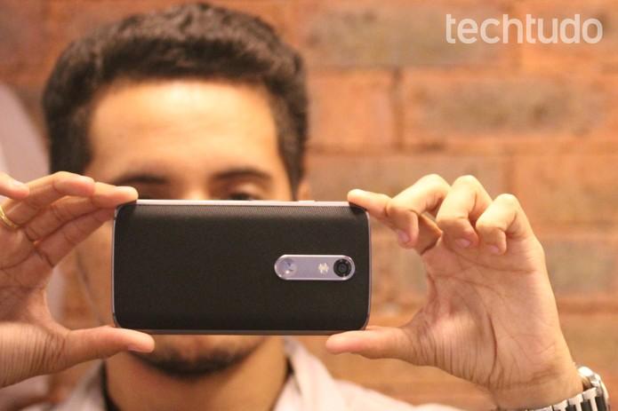 Câmera do Moto X Force tem resolução de 21 megapixels (Foto: Lucas Mendes/TechTudo)