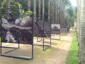 Sebastião Salgado apresenta fotos de Gênesis no Rio. (Foto: Luís Bulcão/G1)