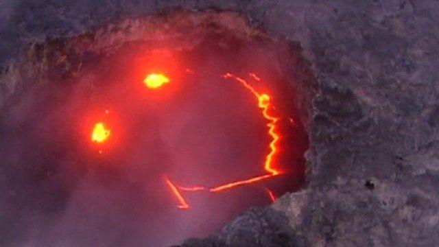 Vulcão sorrindo no Havaí (Foto: Divulgação)