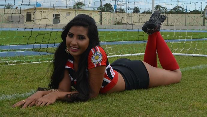 Juliana Dias, Musa do São José (Foto: Lorena Kubota/GE-AP)