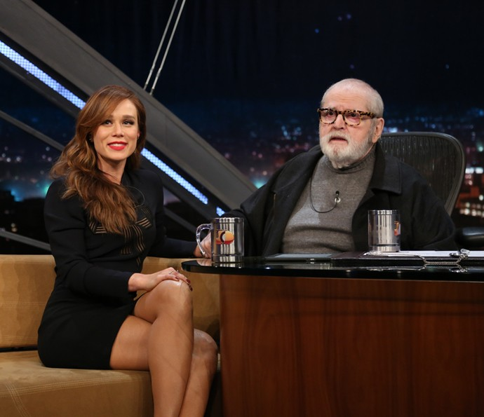 Jô Soares entrevista a atriz Mariana Ximenes (Foto: Carol Caminha/Gshow)