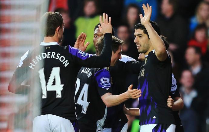 Luis suarez liverpool gol Southampton (Foto: Agência Getty Images)