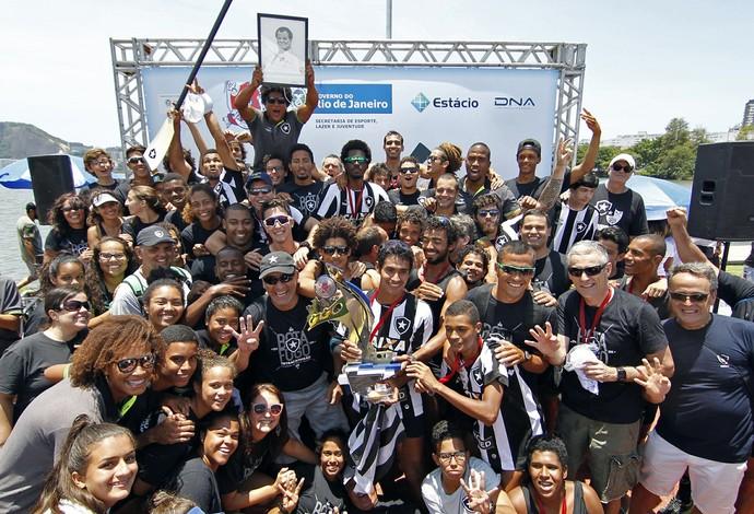 Botafogo leva o título estadual de remo (Foto: Vitor Silva/Botafogo/SSPress)