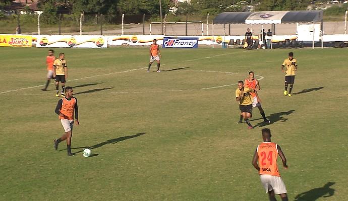 Botafogo-PB amistoso contra Internacional-PB (Foto: Reprodução / TV Cabo Branco)