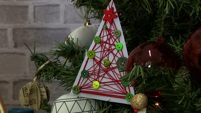 mistura com rodaika tutorial de natal cartão de natal (Foto: Reprodução RBS TV)