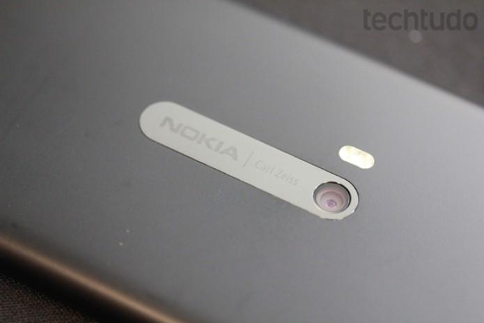 Câmera do Lumia 920: o grande diferencial do top da Nokia (Foto: Allan Melo / TechTudo)