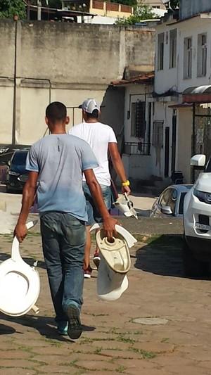 Banheiro de São Januário depredado - Vasco x Flamengo (Foto: Raphael Zarko)