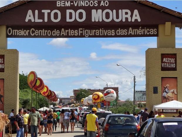 Alto do Moura é um dos locais mais procurados no São João de Caruaru (Foto: Katherine Coutinho/G1)