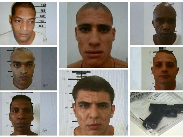 Polícia Civil de Mococa divulgou fotos dos sete fugitivos nesta segunda-feira (Foto: Reprodução/EPTV)