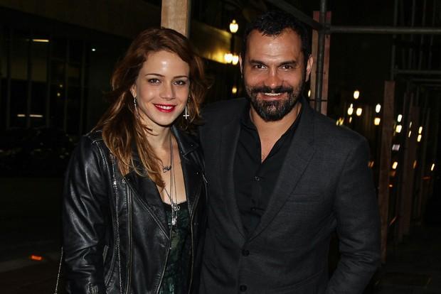 Leandra Leal com o marido e aniversariante, Alexandre Youssef (Foto: Manuela Scarpa/Photo Rio News)