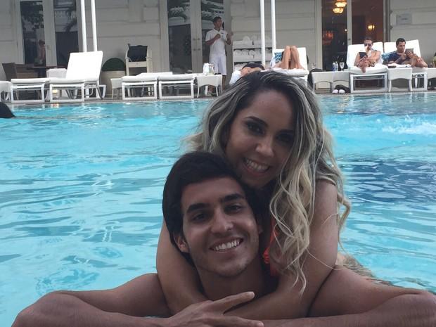 Mulher Melão e seu affair no Copacabana Palace (Foto: Arquivo Pessoal)