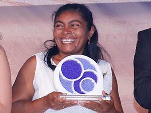Navegantes foi a Brasília para receber prêmio nesta terça (10) (Foto: Fundação Banco do Brasil/Divulgação)