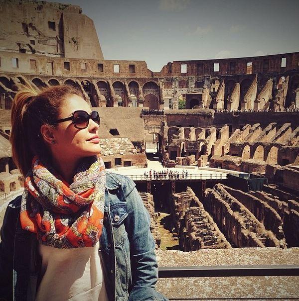 Paloma Bernardi no Coliseu (Foto: Instagram / Reprodução)