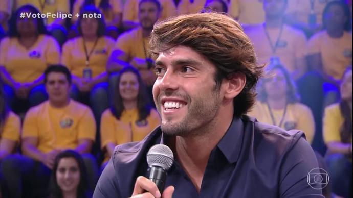 Kaká no júri da finalíssima do 'Dança dos Famosos' (Foto: TV Globo)