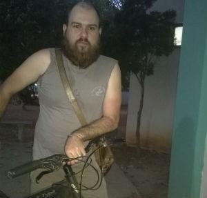 Rafael usa a bicicleta há cerca de um ano (Foto: Rafael Macedo/Arquivo Pessoal)