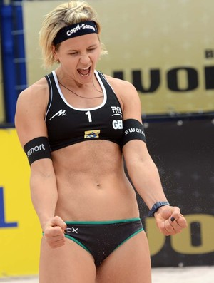 Laura Ludwig no Grand Slam de São Paulo (Foto: Divulgação/FIVB)