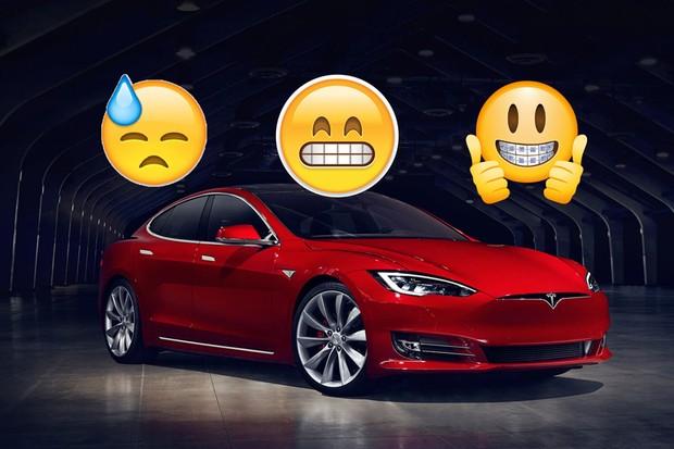 Tesla Model S com emojis (Foto: Divulgação)