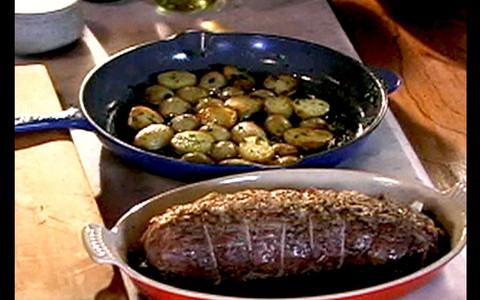 Rosbife com Batata Sauté