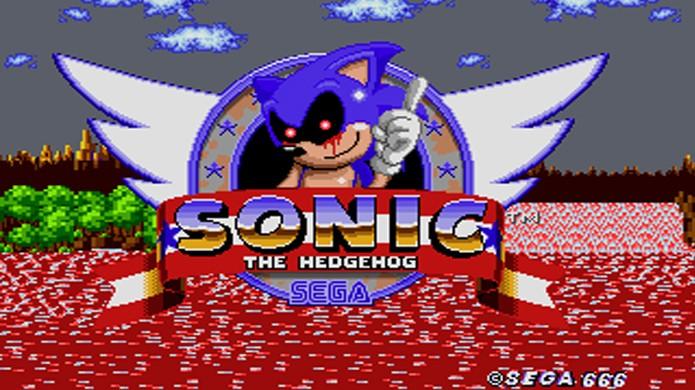 Sonic the Hedgehog vira uma história de terror em Sonic.exe (Foto: Reprodução/Know Your Meme)