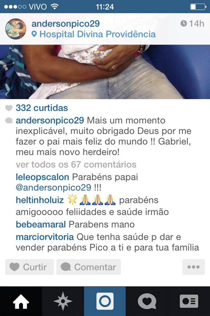 Filho Anderson Pico (Foto: Instagram)