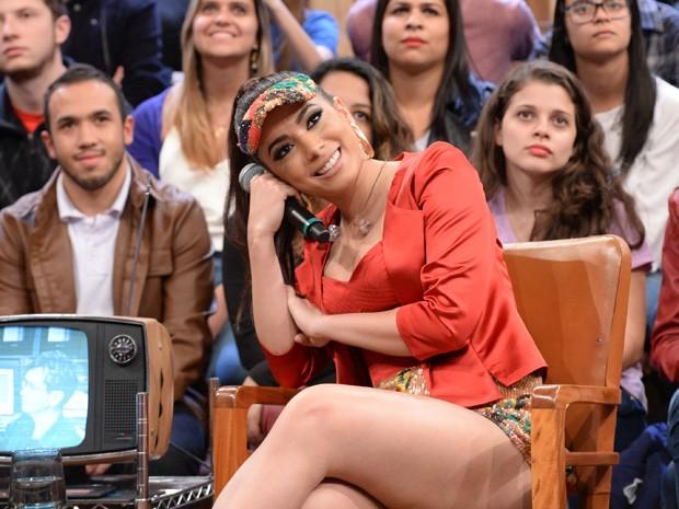 Anitta participa da gravação do programa Altas Horas (Foto: Globo/Zé Paulo Cardeal)