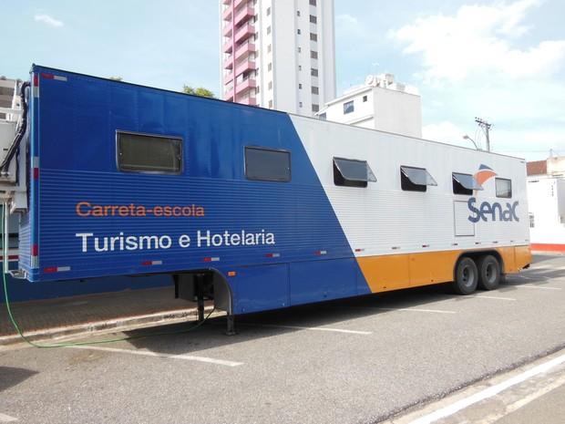 Oficinas acontecem em carreta do Senac (Foto: Divulgação / Senac)