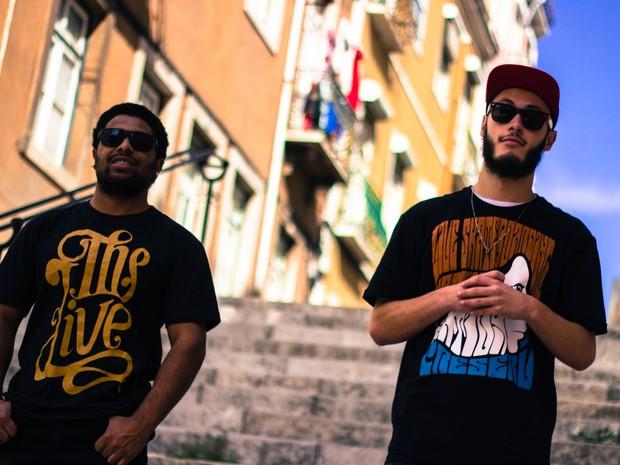 Rappers gravaram clipe em Lisboa, Portugal (Foto: China Trindad)